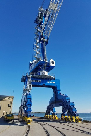 First Liebherr portal slewing crane in the US